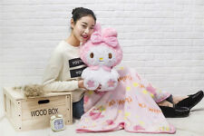 Kawaii Bowknot My Melody Kitty Doll Plush Toy Soft Blanket Cos Gift