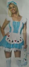 New Alice in Wonderland》SEXY ALICE GIRL ADULT COSTUME》Extra Large XL (14-16)