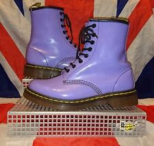 Rare 1460*Lilac Patent Leather Dr Doc Martens*Pink Purple Kawaii*Kitsch*Punk*5