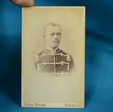 1880 CDV Foto German Deutsches Heer 15th Hannover Husar Hussar IX Army Soldier