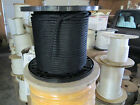 """1/2"""" X 50' Halyard sail line,anchor rope polyester double braid 8500 USA ,Black"""