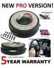QUICK RELEASE SNAP OFF STEERING WHEEL BOSS HUB KIT SLIMLINE SLIM SHORT NARROW