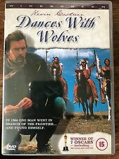 Kevin Costner DANCES WITH WOLVES ~ 1990 Oscar-Winning Western Classic | UK DVD