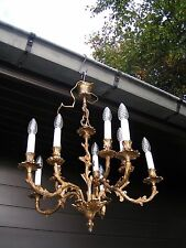 "&& Fantastic and nice ornated vintage French 10 lt ""rococco""-style chandelier  ."