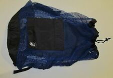 ARMOR 28DLX LARGE HEAVY NYLON MESH BACKPACK/ DUFFLE SCUBA DIVING/ DIVE BAG BLUE