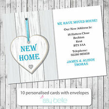Personalised Change of Address, Moving House Cards New Home Heart