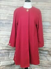AVOCA MADE IN IRELAND RED 100% NEW WOOL COAT - S/M - NWT