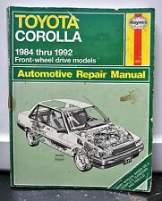 HAYNES TOYOTA COROLLA 1984-1992 OWNERS REPAIR MANUAL