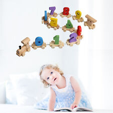 Digital Wooden Number Train Railway Kids Baby Wood Small Toddler Toy Educational