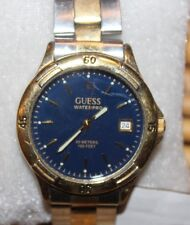 Guess Waterpro Blue Dial 50m Watch Stainless Steel Two Toned Bracelet 74