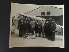 RARE AVIATION : Group of Passengers Ready to Board Early Airplane Photo