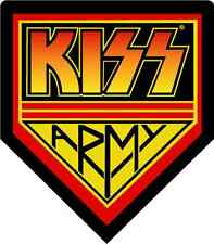 "KISS Army Music Bumper Sticker 5"" x 5"""