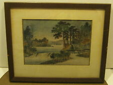 EXQUISITE Hand Woven TAPESTRY Asian Landscape Scene Framed & Matted SUPER!!!!