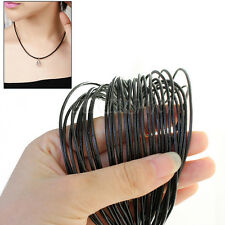 10m Black Fashion Leather Cord Thread Round String For Necklace Bracelet 1.5mm