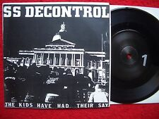 "SS DECONTROL 7"" The Kids will have their say (LIVE 1982) Xclaim! / MINOR THREAT"