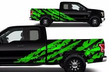 Custom Graphics Vinyl Decal Wrap Kit for 2015-2017 Ford F-150 Truck SHRED Green