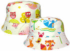 Baby Toddler Squirrel & Owl Design Sun Bush Hat Boys Girls Summer Cotton Cap New