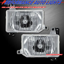Pair Euro Clear Headlights w/ Bulbs and Bracket for 1987-1995 NISSAN PATHFINDER