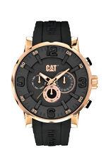 Mens Caterpillar Bold CAT NJ19921139 Black Rubber Rose Case Date Sport Watch