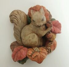 Squirrel Fall Autumn Thanksgiving Decorations Ceramic Hanging Wall Decor