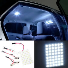 48SMD 3528 LED Lamp Panel BA9S T10 Festoon Car Interior Dome White Lights 1pcs