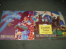 """LOT OF 2 LP'S-MILITARY BAND SEARCHLIGHT TATTOO  WHITE CITY 1954 & 1956 10"""" LP'S"""