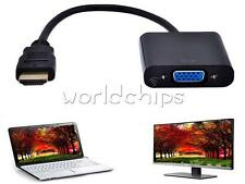 1080P HDMI Male to VGA Female HD Video Converter Cable Adapter Chipset For PC
