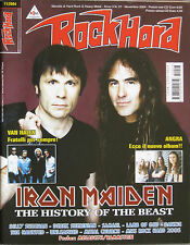 ROCK HARD 11 2004 Iron Maiden Angra Billy Sheenan Samael Van Halen Wicked Minds