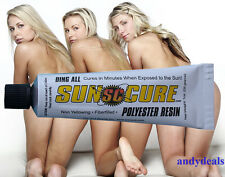 SUN CURE Surfboard Surf  Ding Repair Polyester Resin Filler  UV Cures by the Sun
