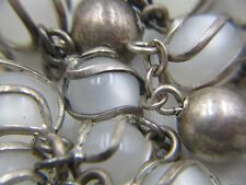 † HTF SUPER UNIQUE VINTAGE SIGNED STERLING FULLY CAGED MOONGLOW MATER ROSARY  †