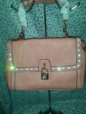 DIOPHY PEACH WOMENS EVENING SHOULDER BAG PURSE WITH BEAUTIFUL RHINESTONES