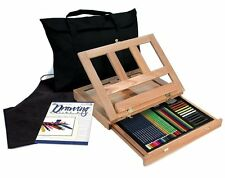 ARTISTS 44PC. DRAWING EASEL ART SET WITH EASY TO STORE BAG BY ROYAL & LANGNICKEL