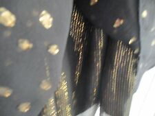 """Pure silk/Wool/Cotton New Look, 3 layer Black/ Gold Short dress size12 .""""Gorge!"""""""