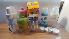 LOT 9 Baby Tot Bottles, Sippy Cups, Nipples OXO Dr. Browns Munchkin Latch Foogo