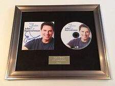 SIGNED/AUTOGRAPHED JOHN BARROWMAN - YOU RAISE ME UP FRAMED CD PRESENTATION.