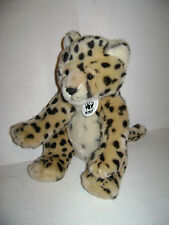 "BUILD A BEAR WORKSHOP WWF 2007 LEOPARD CHEETAH JUNGLE CAT 13"" PLUSH STUFFED RARE"
