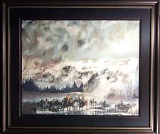 """Earl Biss """"Another Storm Along The Rockies""""framed serigraph on Paper Hand Signed"""