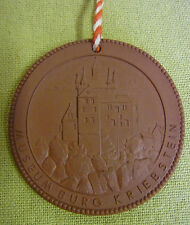 Meissen DDR Medaille - Museum Burg Kriebstein - Kriebstein Talsperre