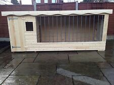 EXTRA LARGE DOG KENNEL AND RUN WITH GALVANISED BARS AND WINDOW