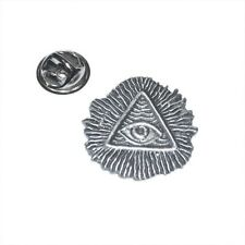 English Pewter Masonic All Seeing Eye Masons Pin, Tie, Lapel Hat badge XDHLP1222