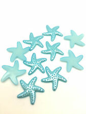 NEW 50pcs Resin starfish Flat back Scrapbooking For DIY craft making Sky Blue