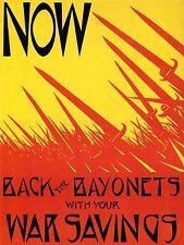 Propaganda De Guerra Primera Guerra Mundial Usa posterior bayonetas ahorro impresión arte cartel Imagen lv7269