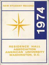 1974 AMERICAN UNIVERSITY YEARBOOK, NEW STUDENT RECORD, WASHINGTON, D.C.