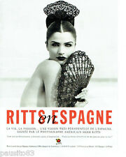 PUBLICITE ADVERTISING 125  1996  ESPAGNE  la vie la passion photo HERB RITTS