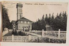 26402 tolle AK Annaberg Turm und Unterkunftshaus mit Zaun 1919 Erzgebirge