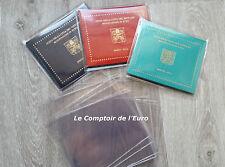 10 x Kunststoff Schutzhülle für KMS Kursmünzensatz Vatikan Folder 2002 - 2017