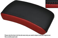 BLACK & DARK RED CUSTOM FITS YAMAHA XVS 650 DRAGSTAR REAR LEATHER SEAT COVER
