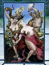 """Bleiverglasung Fensterbild Glas- Malerei Motiv der Antike """"Amazonen im Kampf"""""""