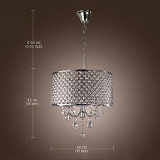 FREE USA Ship Chandelier Pendant Lamp Ceiling Drum Chandelier Crystal Modern 4