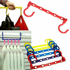 5 Pcs Useful 5-Hole Space Saver Wonder Magic Hanger Hook Closet Organizer